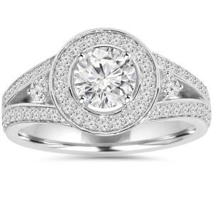 Eco-Friendly White Gold 1.55 ct TDW Lab-Grown Diamond Wedding Ring - Custom Made By Yaffie™