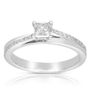 White Gold 1/2ct TDW Princess-cut Diamond Engagement Ring - Custom Made By Yaffie™