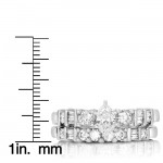 White Gold 1ct TDW Diamond Marquise Bridal Ring Set - Custom Made By Yaffie™