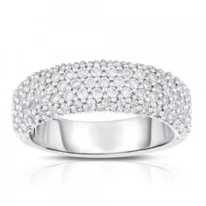 White Gold 1ct TDW Diamond Pave Ring - Custom Made By Yaffie™