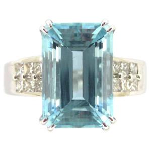 Kabella White Gold Emerald-cut Aquamarine 2/5ct TDW Diamond Ring - Custom Made By Yaffie™