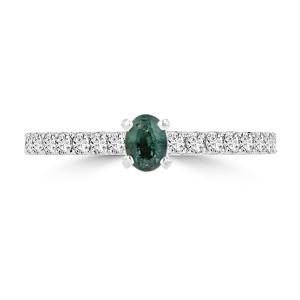 La Vita Vital White or Gold 1/4ct TGW Brazilian Alexandrite and 1/3ct TDW Diamond Ring - Custom Made By Yaffie™