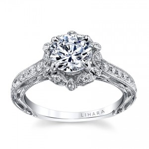 White Gold 0.31ct TDW Semi-Mount Diamond Engagement Ring - Custom Made By Yaffie™