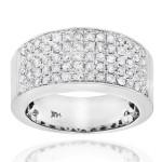 Gold 1 3/4ct TDW Pave Diamond Designer Wedding Band - Custom Made By Yaffie™