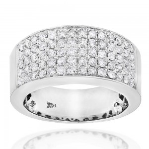 Gold 1 3/4ct TDW Pave Diamond Designer Wedding Band - Custom Made By Yaffie™