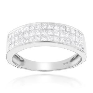 Gold 1 3/8ct TDW Princess-cut Diamond Wedding Band - Custom Made By Yaffie™