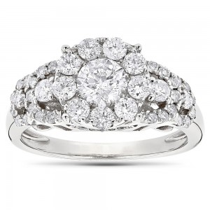 Gold 1 5/8ct TDW Diamodn Designer Engagement Ring - Custom Made By Yaffie™