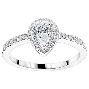Gold 1/2ct TDW White Diamond Engagement Ring - Custom Made By Yaffie™