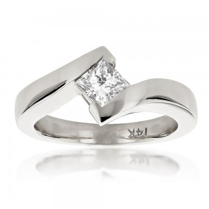 Gold 2/5ct TDW Diamond Solitaire Engagement Ring - Custom Made By Yaffie™