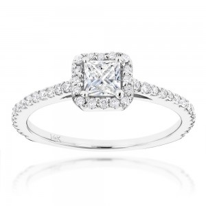 Gold Unique 7/8ct TDW Diamond Engagement Ring - Custom Made By Yaffie™