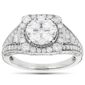 White Gold 2ct TDW Diamond Engagement Ring - Custom Made By Yaffie™