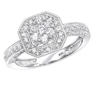Ladies Diamond Rings Cluster Diamond Ring 1 ct - Custom Made By Yaffie™