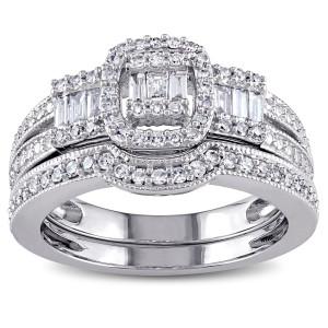 White Gold 1/2ct TDW Diamond Bridal Ring Set - Custom Made By Yaffie™