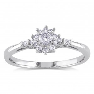 White Gold 1/4ct TDW Diamond Ring - Custom Made By Yaffie™