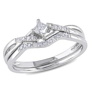 White Gold 1/5ct TDW Diamond Bridal Set - Custom Made By Yaffie™