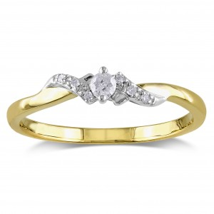 Gold 1/10ct TDW Diamond Ring - Custom Made By Yaffie™