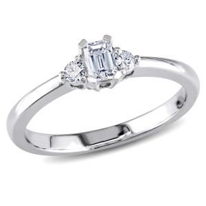 Gold 1/3ct TDW Diamond 3-stone Engagement Ring - Custom Made By Yaffie™