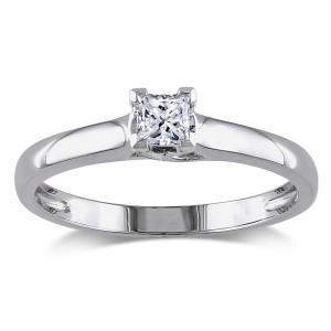 Gold 1/4ct TDW IGL Certified Diamond Solitaire Engagement Ring - Custom Made By Yaffie™