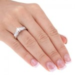 White Gold 1/2ct TDW Diamond Bridal Set - Custom Made By Yaffie™