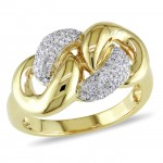 Gold 1/5ct TDW Diamond Chain Link Ring - Custom Made By Yaffie™