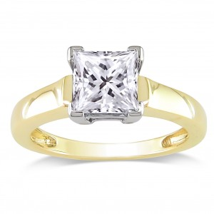 Signature Collection Gold 1 1/2ct TDW Certified Diamond Solitaire Engagement Ring - Custom Made By Yaffie™