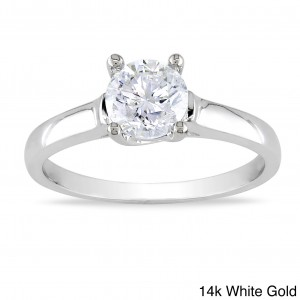 Signature Collection Gold 1ct TDW Diamond Solitaire Engagement Ring - Custom Made By Yaffie™