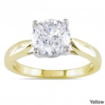Signature Collection Gold 2ct TDW Certified Round Solitaire Diamond Ring - Custom Made By Yaffie™