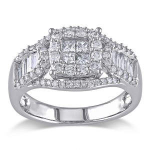 Signature Collection White Gold 1 1/10ct TDW Certified Diamond Ring - Custom Made By Yaffie™
