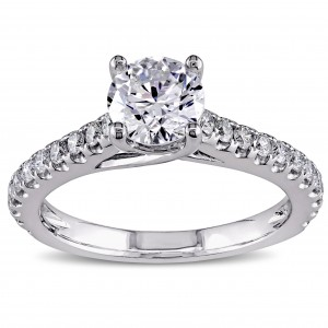 Signature Collection White Gold 1 1/2ct TDW Diamond Engagement Ring - Custom Made By Yaffie™