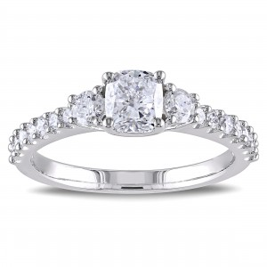 Signature Collection White Gold 1 1/5ct TDW Cushion Cut Diamond Ring - Custom Made By Yaffie™