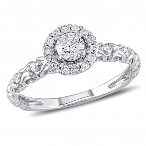 Signature Collection White Gold 1/2ct TDW Diamond Ring - Custom Made By Yaffie™