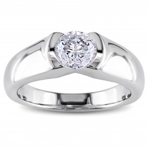 Signature Collection White Gold 1ct TDW Certified Diamond Solitaire Engagement Ring - Custom Made By Yaffie™