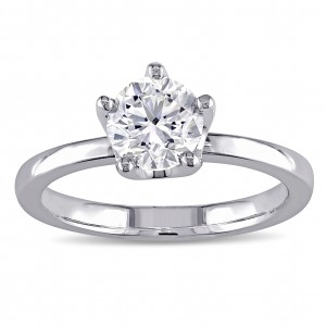Signature Collection White Gold 1ct TDW Diamond 5-prong Solitaire Engagement Ring - Custom Made By Yaffie™
