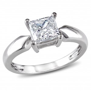 Signature Collection White Gold 1ct TDW Diamond Solitaire Engagement Ring - Custom Made By Yaffie™