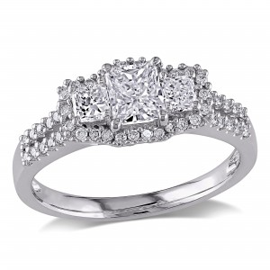 Signature Collection White Gold 1ct TDW IGL-certified Diamond Ring - Custom Made By Yaffie™