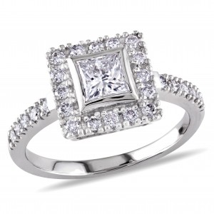 Signature Collection White Gold 1ct TDW Princess Cut Diamond Ring - Custom Made By Yaffie™