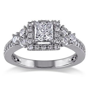 Signature Collection White Gold 1ct TDW Princess-cut Diamond Ring - Custom Made By Yaffie™