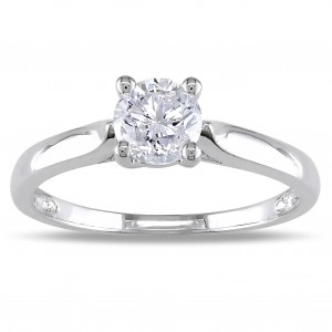 Signature Collection White Gold 3/4ct TDW Certified Diamond Ring - Custom Made By Yaffie™