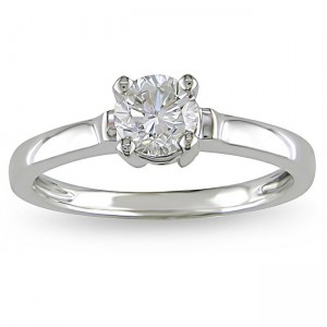 Signature Collection White Gold 3/4ct TDW Diamond Solitaire Ring - Custom Made By Yaffie™