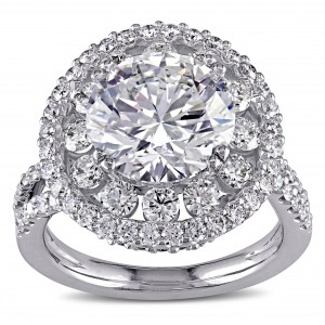 Signature Collection White Gold 5 1/3ct TDW Certified Diamond Engagement Ring - Custom Made By Yaffie™