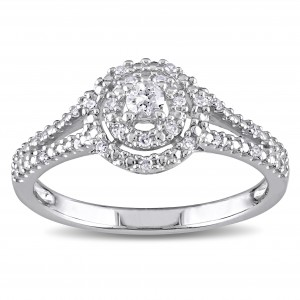 Sterling Silver 1/5ct TDW Diamond Ring - Custom Made By Yaffie™
