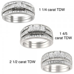 Gold 1 1/4 to 2 1/2ct TDW Diamond 3-piece Bridal Ring Set - Custom Made By Yaffie™