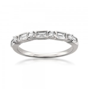 White Gold 1/2ct TDW Diamond Wedding Band - Custom Made By Yaffie™