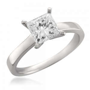 White Gold 1.56ct TDW Certified Princess-cut Diamond Solitaire Ring - Custom Made By Yaffie™