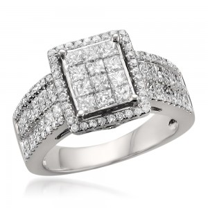 White Gold 2ct TDW Princess-cut Diamond Ring - Custom Made By Yaffie™