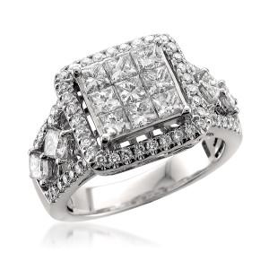 White Gold 2ct TDW Princess-cut Diamond Ring - Custom Made By Yaffie™