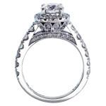 Platinum 3ct TDW Round Diamond Bridal Ring Set - Custom Made By Yaffie™