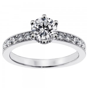 Platinum 4/5ct TDW Diamond Engagement Solitaire Ring - Custom Made By Yaffie™