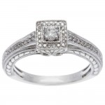 White Gold 1/4ct TDW Princess Diamond Ring - Custom Made By Yaffie™