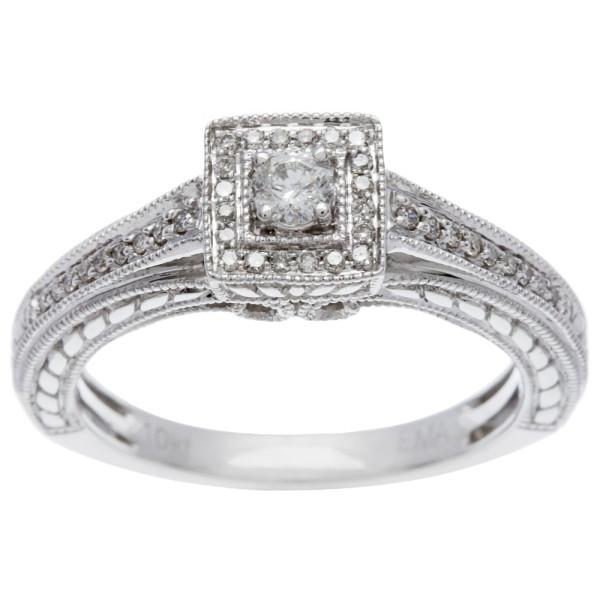 White Gold 1/4ct TDW Princess Diamond Ring - Custom Made By Yaffie™
